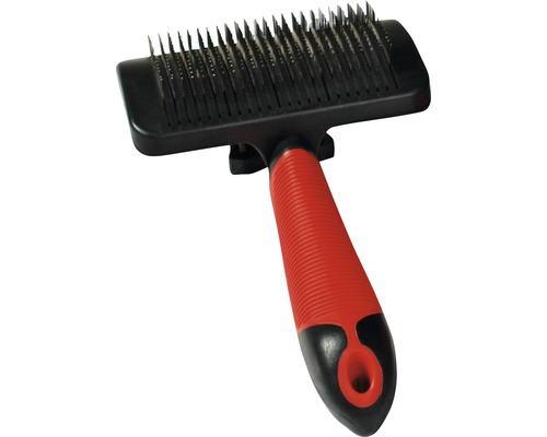 Hundborste KARLIE Easy Clean L svart/röd