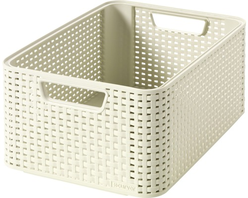 Förvaringsbox CURVER Style rottinglook créme 18 l