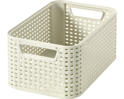 Förvaringsbox CURVER Style rottinglook créme 7 l