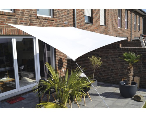 Solsegel FLORACORD polyester rektangel 300x400cm vit