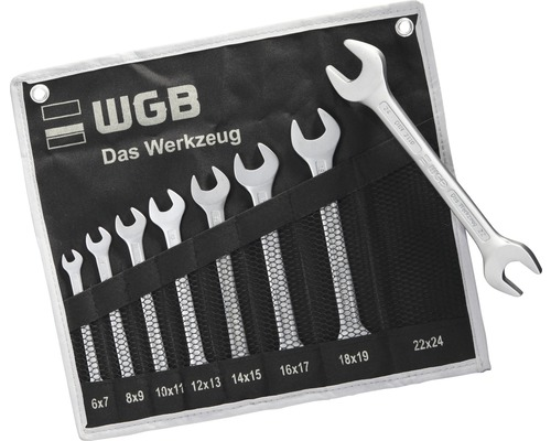 WGB U-nyckelsats 8 delar 6-24 mm