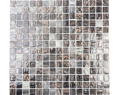 Mosaik glas GM GSL 535 30,5x32,7 cm mörkgrå