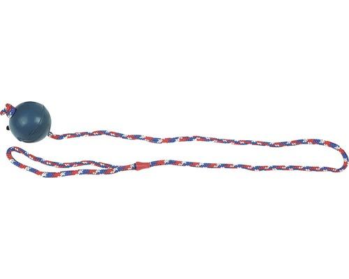 Hundleksak KARLIE gummiboll 6,3cm med rep