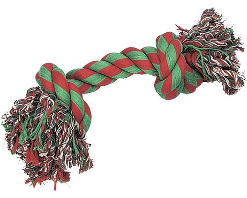 Hundleksak KARLIE tuggrep 2 knutar Jumbo 43cm röd grön