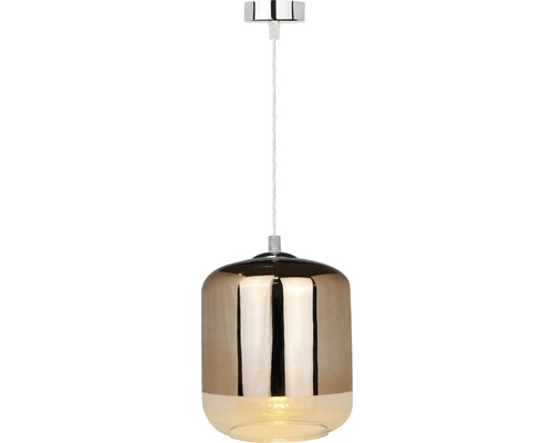 Taklampa FLAIR Capella koppar/krom Ø 180 mm, 1x4W/E27, inklusive ljuskälla