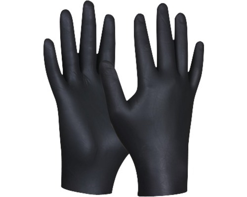 Engångshanske GEBOL Black Nitril svart strl. L 80 st