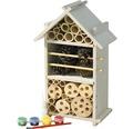 Insektshotell i byggsats för barn 16x9,5x28cm