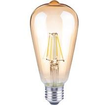 FLAIR LED-lampa ST64 Filament amber E27/4W(35W) 400 lm 2000 K varmvit