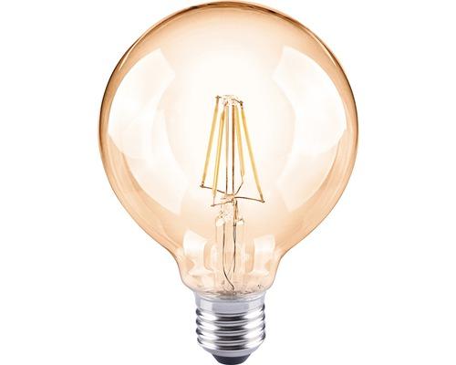 FLAIR LED-klotlampa G95 Filament amber E27/4W(35W) 400 lm 2000 K varmvit