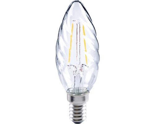 FLAIR LED kronljus CT 35 snurrad Filament klar E14/2W(25W) 230 lm 2700 K varmvit