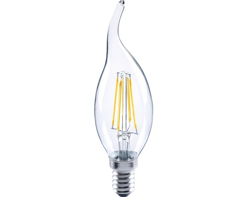 FLAIR LED kronljus CL35 vindpust Filament klar E14/4W(30W) 420 lm 2700 K varmvit