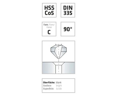 Försänkare ALPEN HSS konisk 90° Ø 12,4mm DIN 3335 C