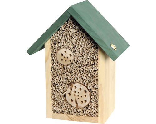 Insektshotell vildbin 22,5x14x28,5cm natur