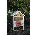 Insektshotell för vilda bin 29x12,5x42cm natur