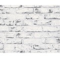 Tapet A.S. CRÉATION mursten grau vit 9078-37