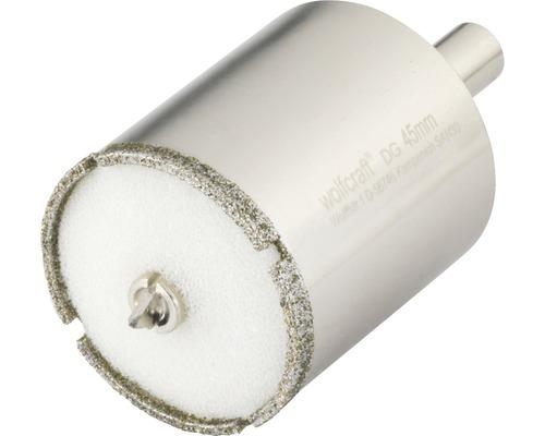 Hålsåg WOLFCRAFT Ceramic Diamant Ø 45mm inkl. skaft och centrumborr