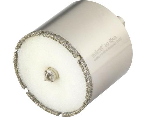 Hålsåg WOLFCRAFT Ceramic Diamant Ø 60mm inkl. skaft och centrumborr