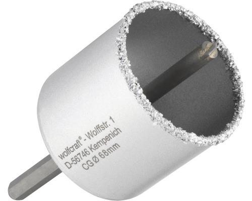 Hålsåg WOLFCRAFT hårdmetall Ø 68mm inkl. skaft och centrumborr