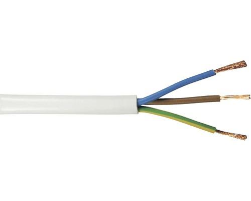 Anslutningskabel SKK (H03 VV-F), 3G 0,75 mm², vit, 50 m