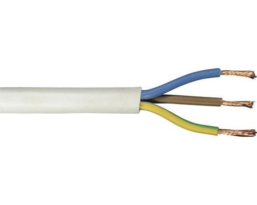 Anslutningskabel RKK (H05 VV-F), 3G 1,5 mm², vit, 50 m