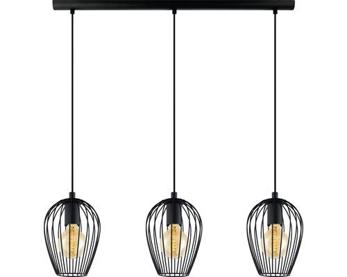 Taklampa EGLO Newtown 3-lågig 3x60W E27 svart