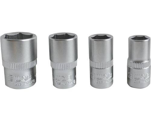 """WGB Sexkantshylsats 1/4"""" 4 delar 7 8 10 13 mm"""