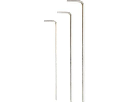 WGB Insexnyckelsats lång 3 delar 2-3 mm