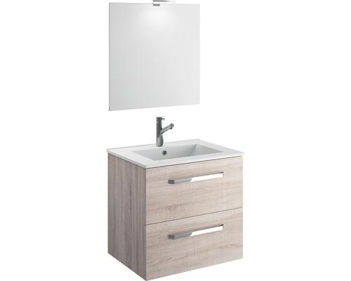 Badrumsmöbelset Titlis med spegel 60x60cm ek