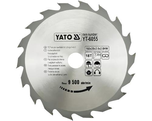 Cirkelsågklinga YATO HM 160x2,8x20mm 18 T