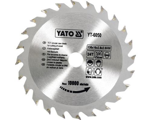 Cirkelsågklinga YATO HM 130x2,8x16mm 24 T
