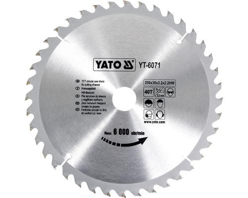 Sågklinga YATO YT-6071 250x3,2x30mm 40T