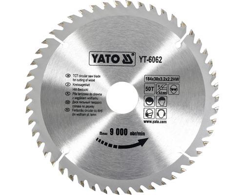 Cirkelsågklinga YATO HM 184x3,2x30mm 50 T