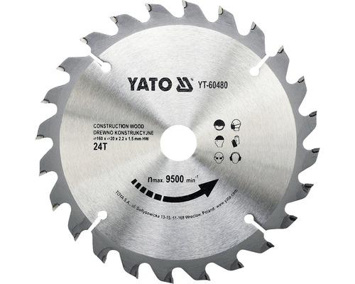 Cirkelsågklinga YATO HM 160x2,2x20mm 24 T