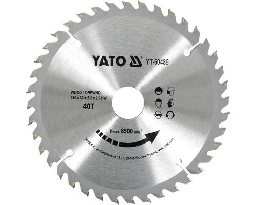 Cirkelsågklinga YATO HM 190x3,2x30mm 40 T