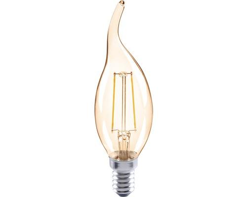 FLAIR LED kronljus CL35C lutad amber E14/2W(26W) 180 lm 2000 K varmvit