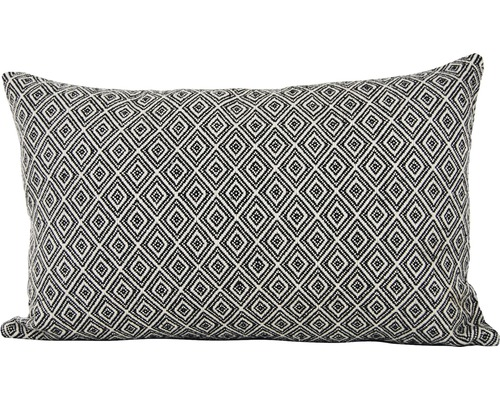 Kudde SOLEVITO Ace 30x50cm svart/vit