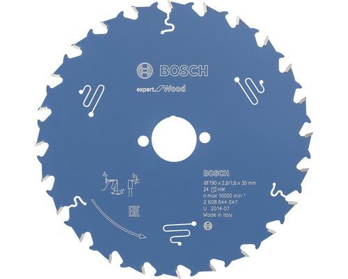 Cirkelsågklinga BOSCH Expert for Wood 190x30mm 24Z