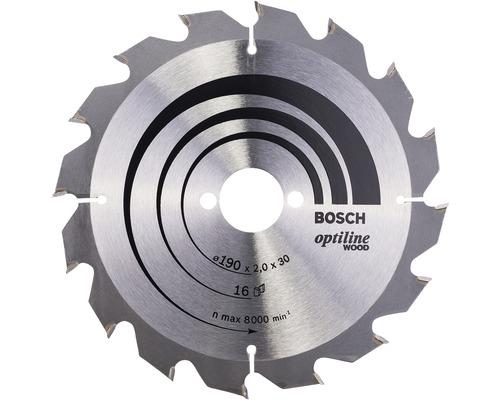 Cirkelsågklinga BOSCH Optiline Wood 190x30mm 16Z