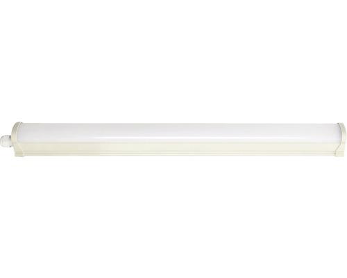 Våtrumsarmatur LED med hölje 10W 880lm 4000K neutralvit L 625mm vit/grå